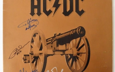 """AC/DC - """"For those about to Rock"""" Signed by all 4 members See Photo Proof Signing Stunning item! - Multiple titles - LP Album, Signed memorabilia (original authograph) - 1981/1981"""