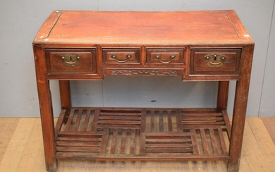 AN ANTIQUE CHINESE WRITING DESK (A/F) (82H X 113W X 58D CM) (LEONARD JOEL DELIVERY SIZE: LARGE)