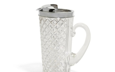 AN CARTIER SILVER-MOUNTED CRYSTAL COCKTAIL JUG, FIRST HALF OF 20TH CENTURY