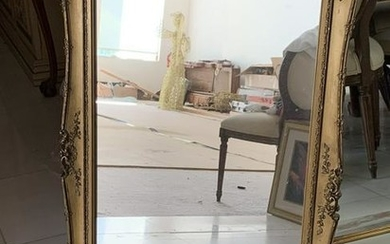 ANTIQUE FRENCH COUNTRY ELABORATE FRAME WALL MIRROR