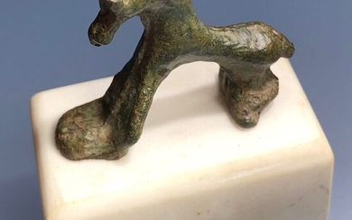 Ancient Roman Bronze Exceedingly Rare Casted Model for Producing the famous Brooch shaped as Horse-allusion of the Trojan