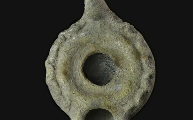 Ancient Roman Pottery decorated Oil lamp
