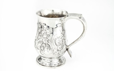 Antique George III mug- .925 silver - I.S - U.K. - Early 19th century