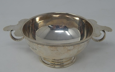 Antique Silver Quaich of Conical Form with Cut Card Decorati...