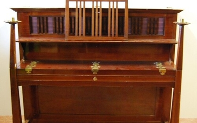 Arts and Crafts Bechstein upright piano designed by Walter C...