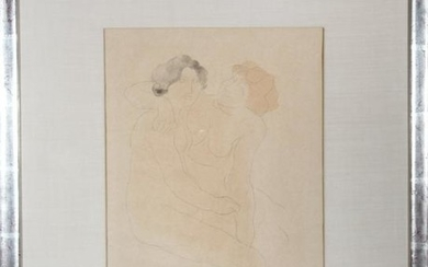 "Auguste Rodin after ""Two Nudes"" Lithograph"