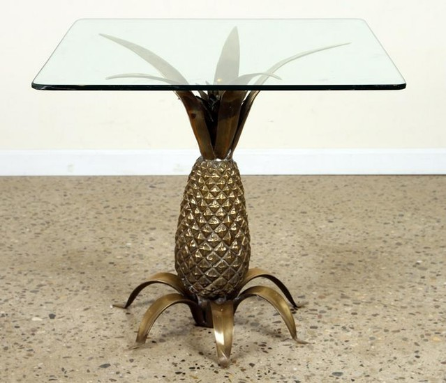 CAST BRONZE PINEAPPLE FORM OCCASIONAL TABLE C1970