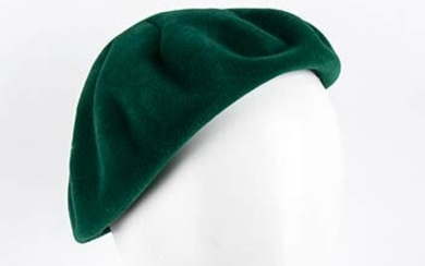 CHRISTIAN DIOR (LICENCE COPY) WOOL HAT 60s Green wool hat....