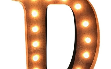 Contemporary Marquee Letter Late-20th Century