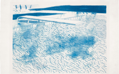 David Hockney, Lithograph of Water Made of Lines