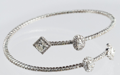 Diamond, 14k white gold bracelet