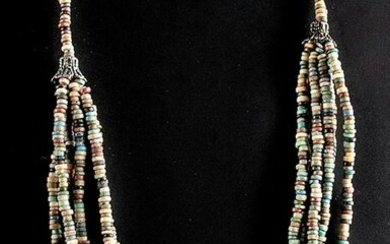 Egyptian Faience Bead Necklace - Six Strands