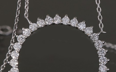 Eternity necklace with brilliant cut diamonds 1.00ct