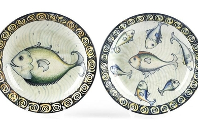 FABRIANESE MANUFACTURE - Two plates with fish