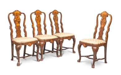 FOUR BEAUTIFUL CHAIRS IN ELM WOOD BRIAR - HOLLAND 18TH CENTURY