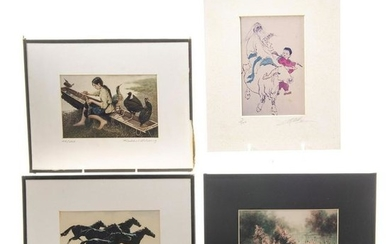 FOUR LIMITED EDITION ASIAN ART PRINTS