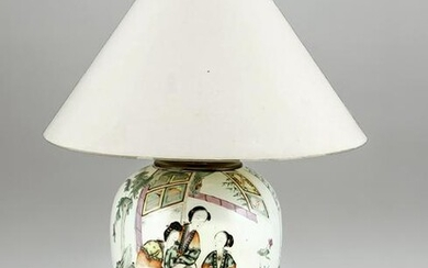 Famille rose vase mounted as a