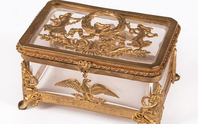 French Gilt Bronze-Mounted Glass Box