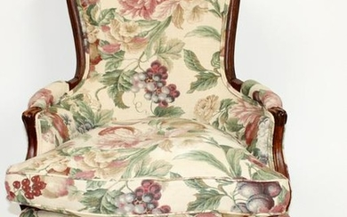 French Louis XV style bergere chair