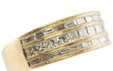 Genuine Diamond Band Ring 1.20ct 14K Yellow Gold