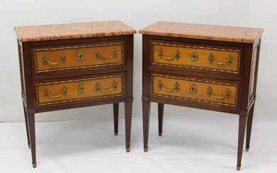 Good pair of late 19th / early 20th century French bedside commodes