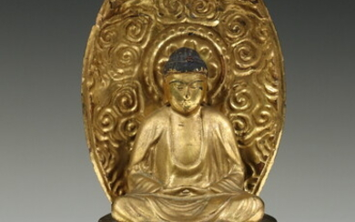 JAPANESE SEATED AMIDA BUDDHA