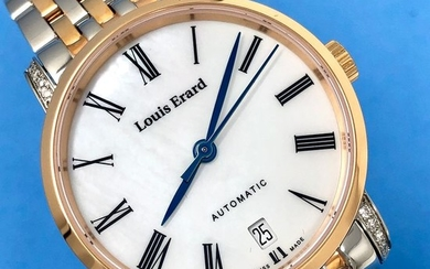 Louis Erard - 20 Diamonds Automatic Excellence Collection 2 Tone Rose Gold Swiss Made - 68235CB04.BMA54 - Women - Brand New
