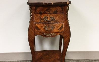 Louis XV-style Ormolu-mounted Marquetry Stand