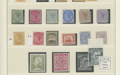 Malta 1860-1970 largely complete mint collection housed in a Lindner album including 1860 no w...
