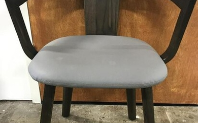 Mid Century Modern Leather Seat End Chair