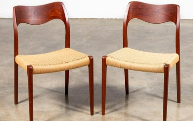 PAIR, J.L. MOLLER MID CENTURY MODERN SIDE CHAIRS