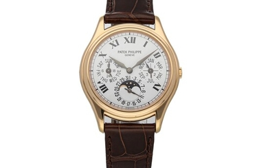 PATEK PHILIPPE | REF 3940R, A ROSE GOLD AUTOMATIC PERPETUAL CALENDAR WRISTWATCH WITH MOON PHASES CIRCA 2002