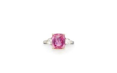 PINK SAPPHIRE AND DIAMOND RING, BULGARI