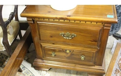 Pair of Canadian 2 Drawer Bedside Cabinets