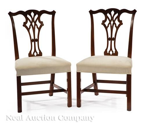 Pair of George III-Style Mahogany Side Chairs