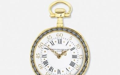 Patek Philippe, Enameled yellow gold pendant watch