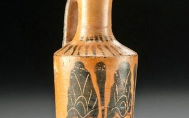 Petite Greek Attic Lekythos with Black Figure Palmettes