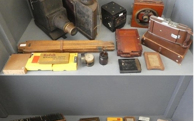Qty of photo glass negatives, photographic items: Sanderson ...