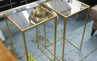 SIDE TABLES, a pair, 1960's French style, 66cm x 35.5cm x 35...