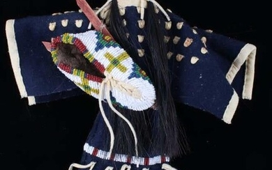 Sioux Mary Standstall Beaded Hide Doll 1950