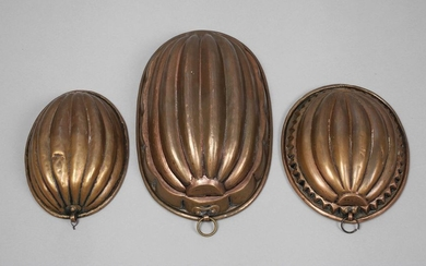 Three copper shapes