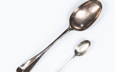 Two 18th Century American Silver Spoons