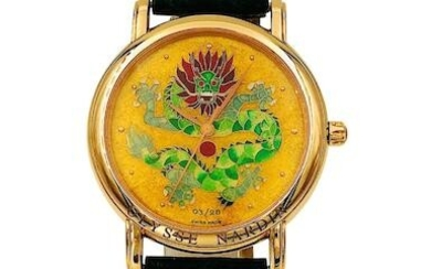 Ulysse Nardin | Ref.136-77-9, A Fine and Limited Yellow Gold Polychrome Cloisonné Enamel Wristwatch, Circa 2000