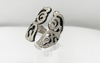 Van Der BauwedeHigh end jewelry- 18 kt. White gold - Ring Diamond - Diamonds