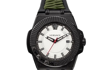 Versace - Chain Reaction Black PVD Stainless Steel Swiss Made - VEDY00419 - Men - Brand New