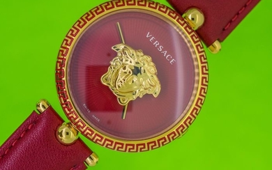 Versace - Palazzo Empire Red Dial 39MM - VCO120017 - Women - Brand New