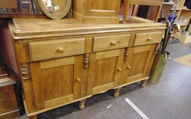 Victorian style dresser base rectangular top over three draw...