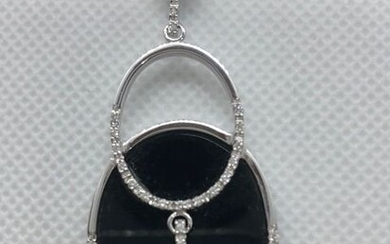 White gold - Necklace with pendant