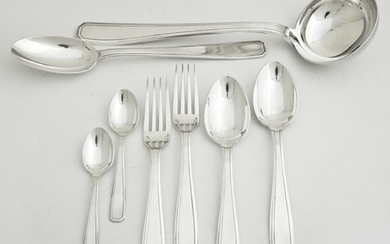 Set of Thirty-Eight Pieces of Silver Plated Flatware,