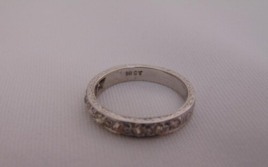 18ct white gold and diamond half eternity ring, approx total...